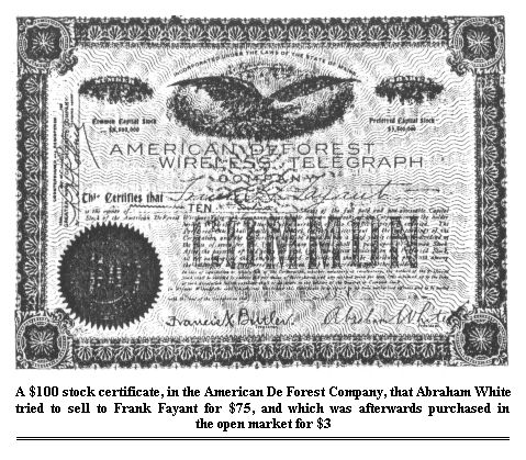 De Forest Stock Certificate