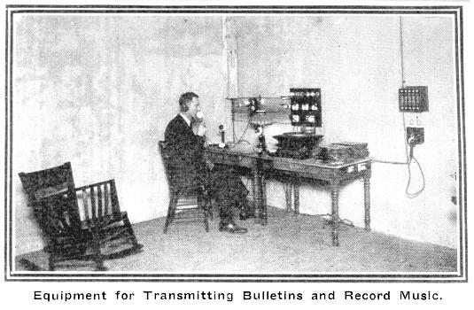 Equipment for Transmitting Bulletins and Record Music