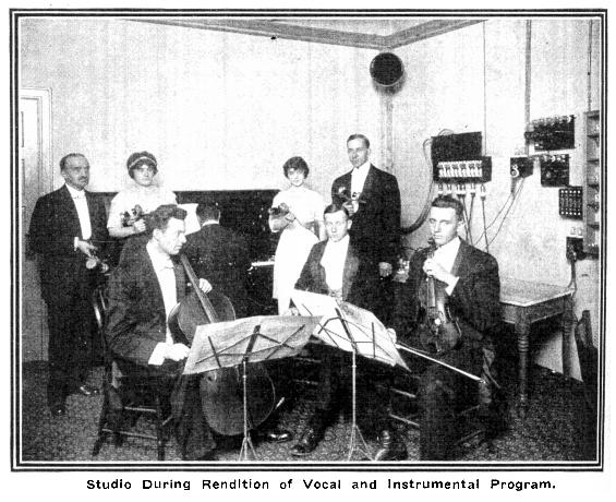 Studio During Rendition of Vocal and Instrumental Program