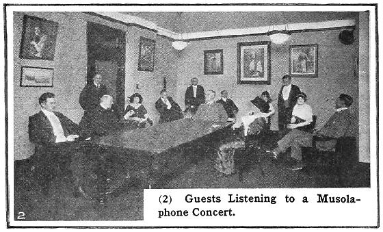 Guests listening to Musolaphone concert