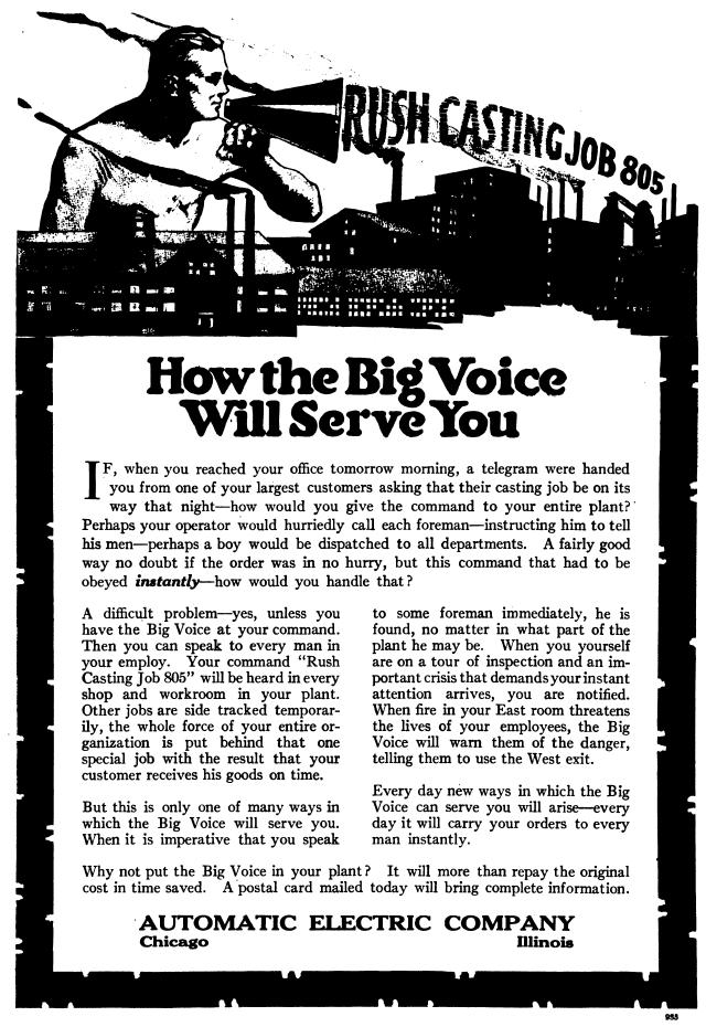 Automatic Enunciator 'Big Voice' advertisement