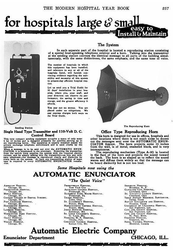 second page of Automatic Enunciator