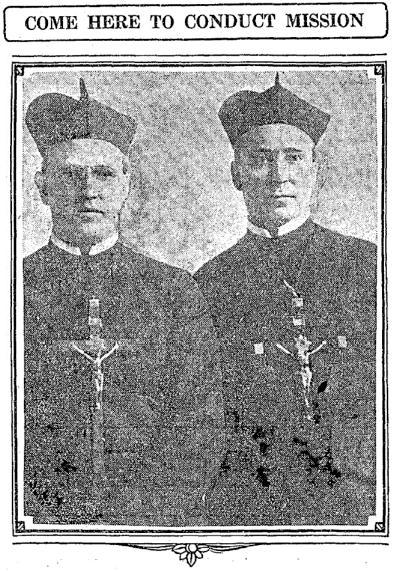 the Rev. Jerome P. Donegan (left) and the Rev. Guy F. Quinan (right)