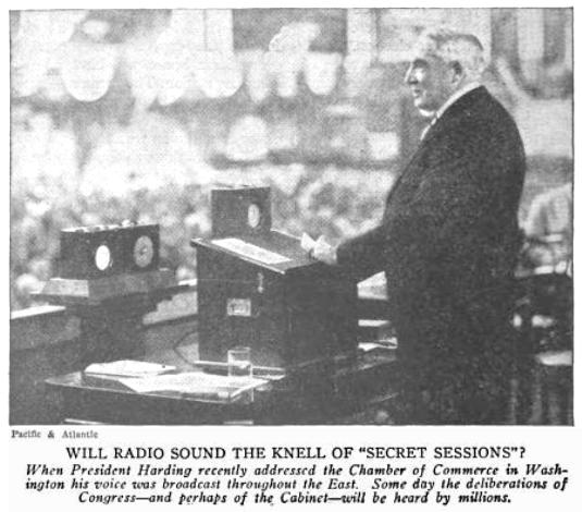 President Harding at Chamber of Commerce