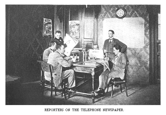 Reporters at desk