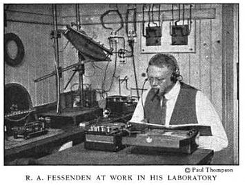 R. A. Fessenden at work in his laboratory