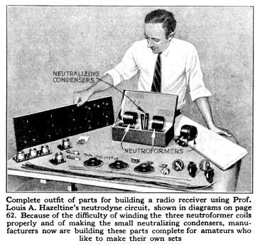 Around the Radio Circuits: Tuned Radio Frequency and Neutrodyne (1923)